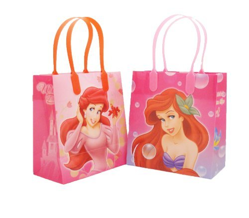 (Disney Little Mermaid Party Favor Goodie Small Gift Bags, pack of)