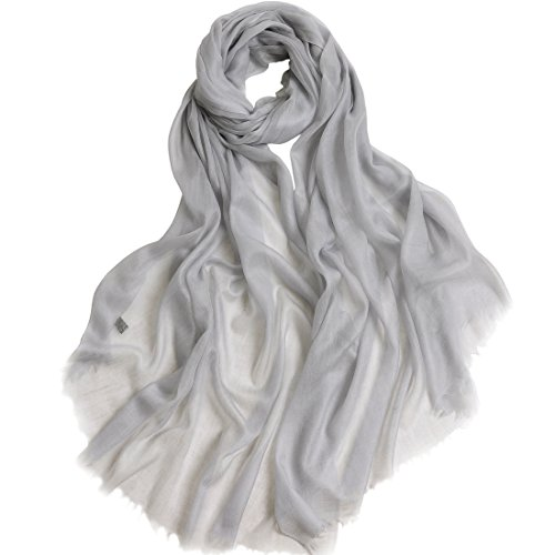 "Cashmere Scarf Women Pashmina Scarf-ZORJAR Ultra Shawls and Wraps 39""x94""(Gray)"