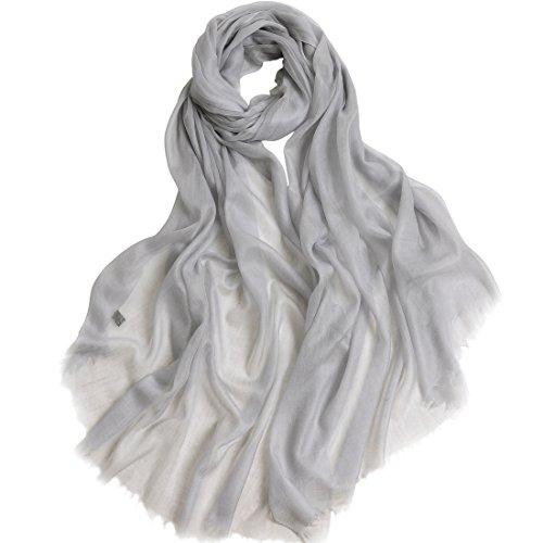 """Cashmere Scarf Women Pashmina Scarf-ZORJAR Ultra Shawls and Wraps 39""""x94""""(Gray)"""