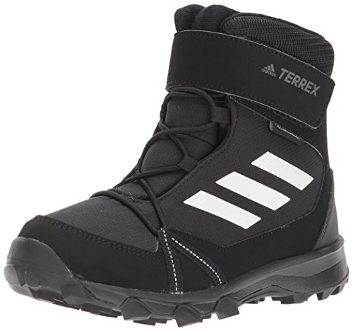 adidas Outdoor Unisex-Kids Terrex Snow CF CP CW K Hiking Shoe,Black/Chalk White/Black,6 Child US Big Kid by adidas outdoor