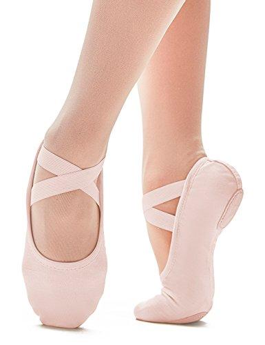 SD120-C Só Dança Zapatilla Ballet Lona Gimnasia Deporte Baile Fitness Suela de Cromo Partida Ancho C para pies normales Rosa