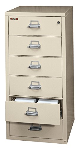 FireKing Fireproof Card, Check and Note File Cabinet (6 Drawers, Impact Resistant, Waterproof), 52.75