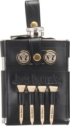 Jack Daniels Licensed Barware 8466 Golf Flask, 7 oz, Silver