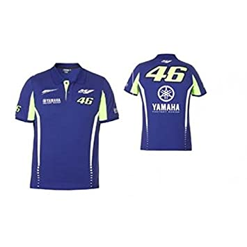 a97a81a585e0 Yamaha Polo Valentino Rossi VR46 Yamaha Factory Racing Team Moto GP  Official T-Shirt 2017 MF1 Navy Blue (L)  Amazon.co.uk  Car   Motorbike