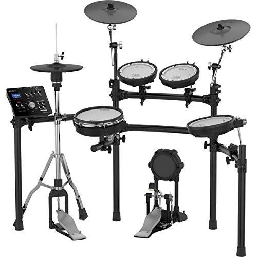 "Roland High-performance, Mid-level Electronic V-Drum Set (TD-25K) with 10"" snare pad, 8"" tom pad (x3), 12"" crash v-cymbal, KD-9 kick pad, and MDS-9V stand (Renewed)"