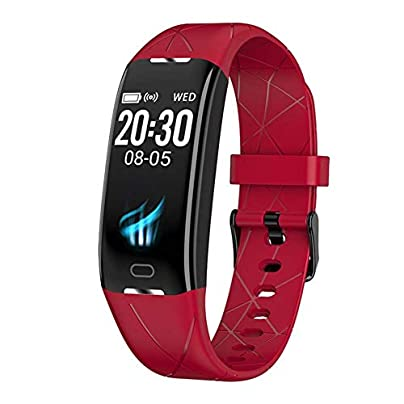 WLLIT Smart Watch Smart Wristband Strap 2019 screen smart bracelet step-by-step health heart rate sleep detection sports bracelet source Fitness Watch-red Estimated Price -