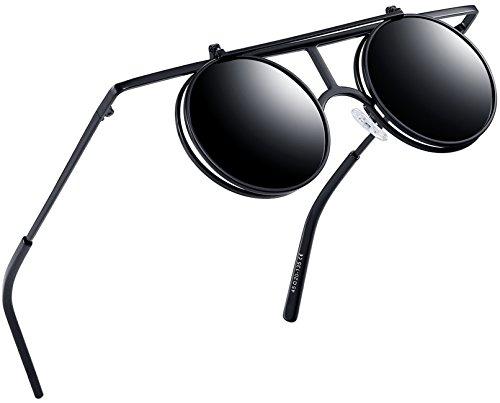 447d1a0df2 Joopin-Round Retro Polaroid Sunglasses Driving Polarized Glasses Men  Steampunk