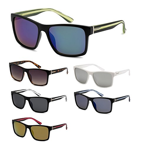 12 Pairs Of Wholesale Unisex Plastic Wayfarer Sunglasses BuyWholesaleSunglasses, Assorted - By Sunglasses The Dozen