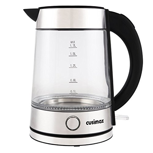 Electric Tea Kettles With Automatic Shut Off ~ Cusimax cup glass electric kettle auto shut off