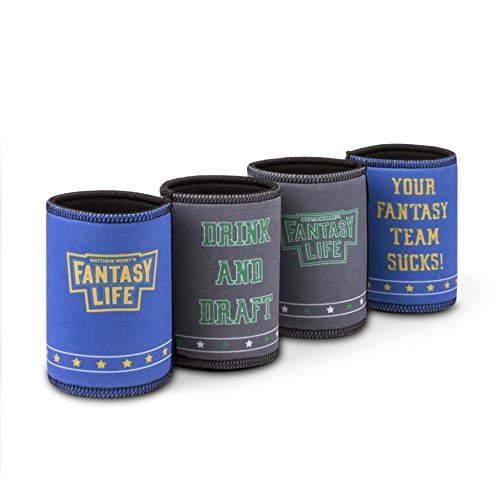 Matthew Berry Fantasy Life, Fantasy Football Koozie Set, Set of 4 by Matthew Berry