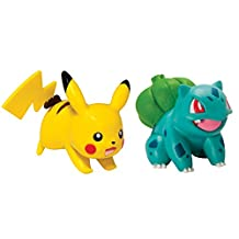 TOMY Pokemon Pose Pikachu Plus Bulbasaur Action Figure