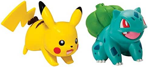Pokémon 2 Pack Small Figures, Pikachu And Bulbasaur