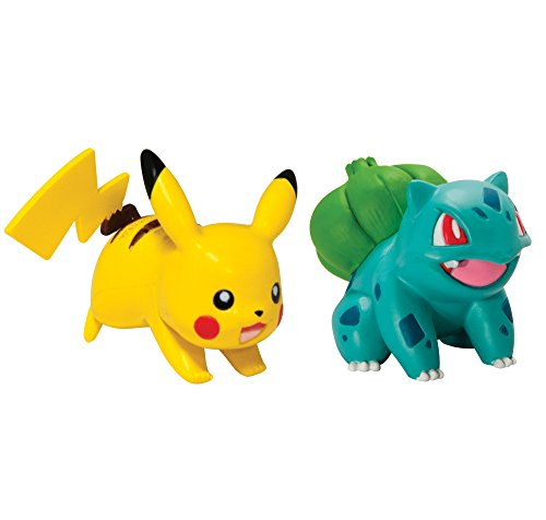 Pokémon 2 Pack Small Figures, Pikachu And Bulbasaur (Best Starter In Pokemon X And Y)