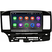 SYGAV 10.2 Inch Android 7.1.1 Nougat Car Stereo Video Player GPS Sat Nav for 2014 2015 Mitsubishi Lancer EVO X with Rockford Fosgate WiFi Bluetooth Radio