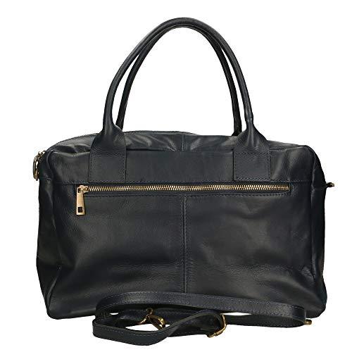 36x26x15 Blu Chicca In Borsa A Made Italy Spalla Borse Cm Pelle Bag qPgqxrCzwZ