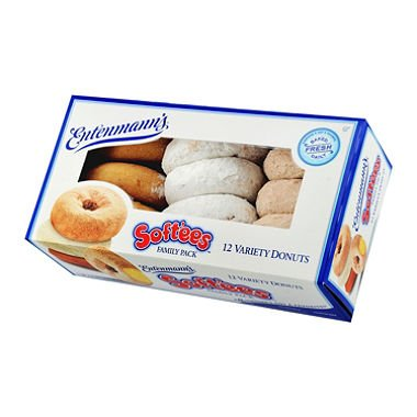 Entenmann's Variety Soft'ees Donuts (12 ct.) (Plain Donut)