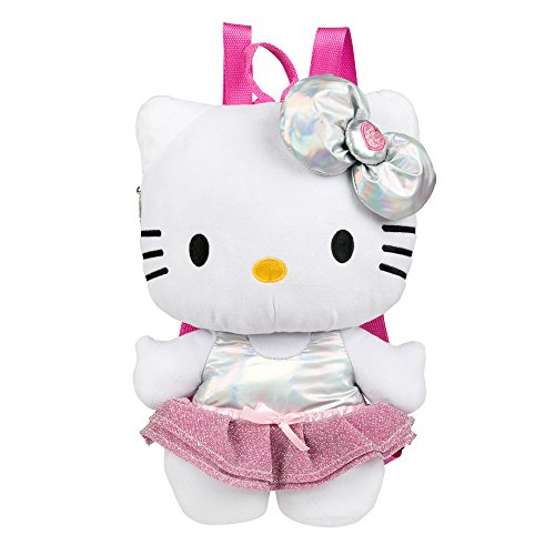 FAB Starpoint Hello Kitty Purple Bow Plush Backpack Girls, 6