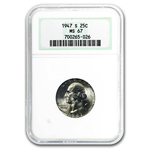 1947 S Washington Quarter MS-67 NGC (Toned) Quarter MS-67 NGC