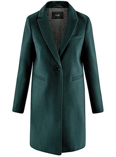 6c00n Botón Mujer Abrigo Oodji Con Ultra Verde Clásico Un TFFx8P