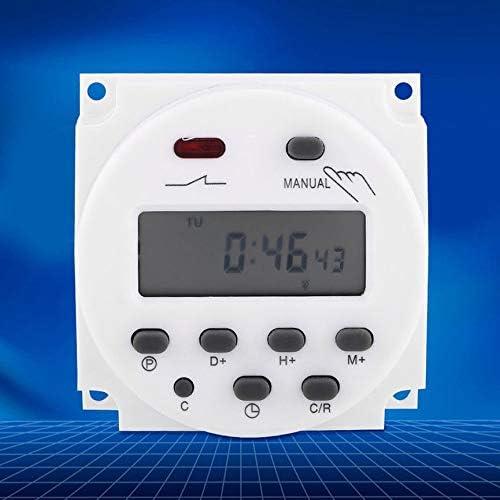 Peanutaor Commutateur de minuterie programmable CN101A mis /à Niveau AC//DC 12V 110V 220V Num/érique LCD Puissance Programmation hebdomadaire de la minuterie /à Relais