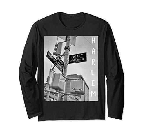 Harlem New York City Street Long Sleeve Shirt - Harlem Long Sleeve