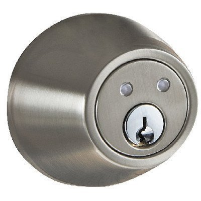 R- Series Single Cylinder Keyless Electronic Deadbolt with Remote Finish: Satin Nickel by Morning (Remote Cylinder)