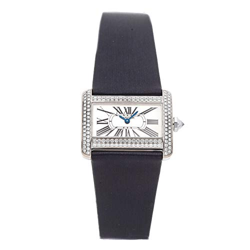 Cartier Tank Quartz (Battery) Silver Dial Womens Watch WA301236 (Certified Pre-Owned)