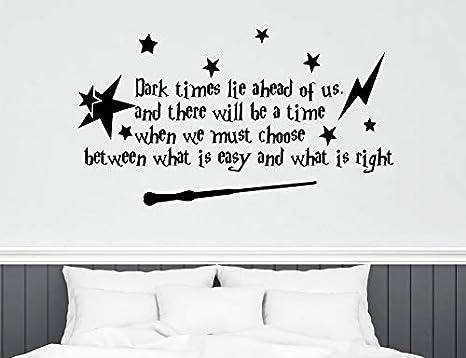 Harry Potter Adhesivo de pared Cita Dark Times Lie Ahead Of Us ...