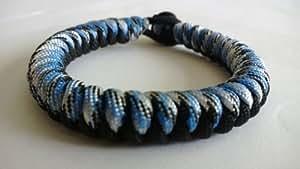 20,32 cm Black Hawk/azul de piel de serpiente cuerda para 550 de piel de serpiente pulsera de supervivencia/pulsera de imitación de Stitch. Hecho a mano en Reino Unido Norfolk.