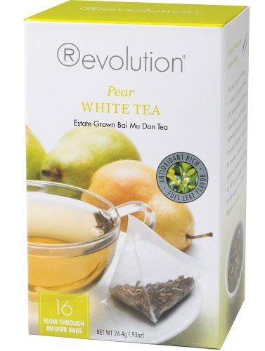 (Revolution Tea, White Pear Tea, 16 Flow-through Infuser Bags in a Stay-Fresh Container)