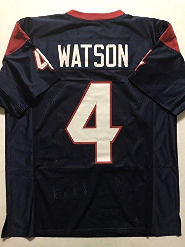 - Unsigned Deshaun Watson Houston Blue Custom Stitched Football Jersey Size XL New No Brands/Logos