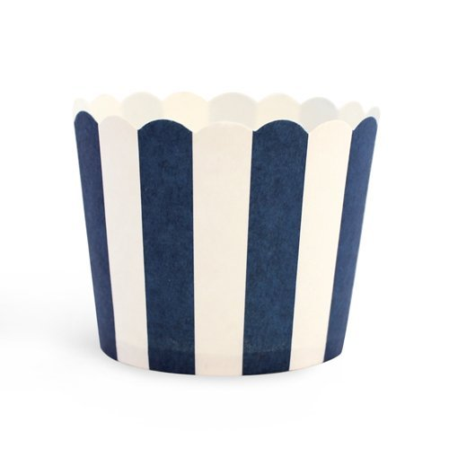 HuSuper Baking Cups with Navy Blau Stripes B077944YDD Flachmnner Großer Verkauf