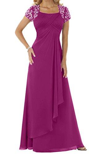 Ivydressing Vestido mujer trapecio fucsia para wqWUX148nq