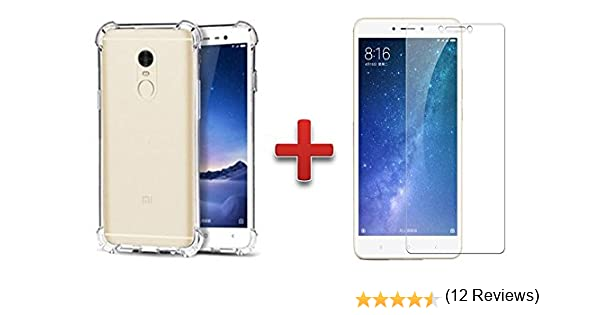 Theoutletablet® Funda Gel Transparente para Smartphone Xiaomi Redmi Note 4 / Note 4X 5.5 TPU Case + Protector de Cristal Templado: Amazon.es: Electrónica