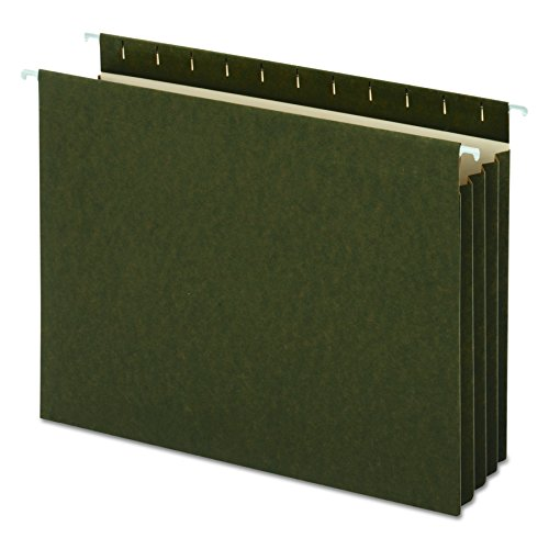 Universal Hanging Box Bottom File Pockets, 11 Point Stock, Letter, Standard Green, 10 per Pack (14160)