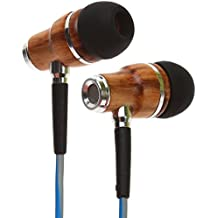 Symphonized NRG 3.0 Premium Wood In-ear Noise-isolating Headphones|Earbuds|Earphones with Mic & Volume Control (Powder Blue & Hazy Gray)