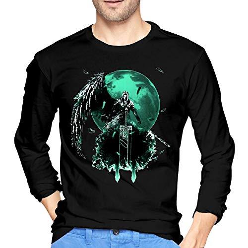 Noswet Mens Cool Final Fantasy Long Sleeve Tshirt Black,Black,Medium (Final Fantasy X X2 Hd Remaster Release Date)