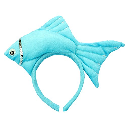 Lucky God Animal Fish Headbands Hair Accessory for Party Dress (Blue) -