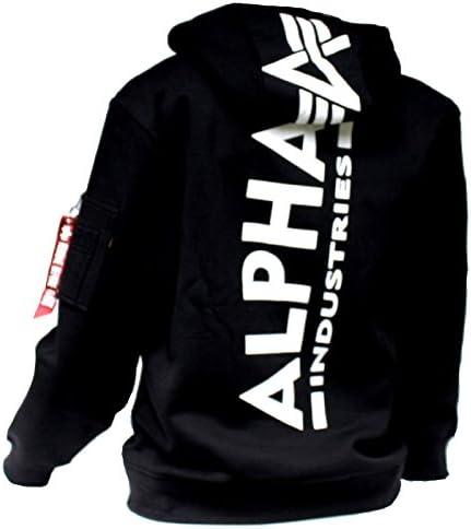 Alpha Industries - Chemise Casual - Manches Longues - Homme - Noir - X-Large