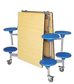 Tecnostyl Mesa Plegable con 8 taburetes incorporados: Amazon ...
