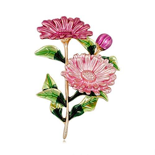 Kofun Brooch, Flower Brooch Bouquet Clothing Backpack Pins Enamel Corsage Badge Icons Powder