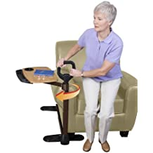 Able Life Able Tray Table - Bamboo Swivel TV Laptop Tray Table For Lift chair or couch  + Ergonomic - Safety Support Mobility