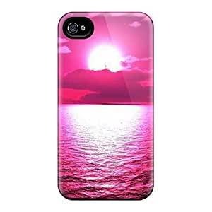 Premium Sunset Sea Raspberry Heavy-duty Protection Case For Iphone 4/4s
