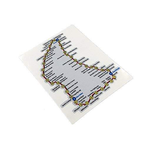Langersun 1PCS Car Styling Decals Moto GP Racing Bike Sticker for Map TT isle of Man 15x12cm
