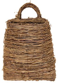 Twig & Vine Pocket Basket Flat Back Country Primitive Wall Décor
