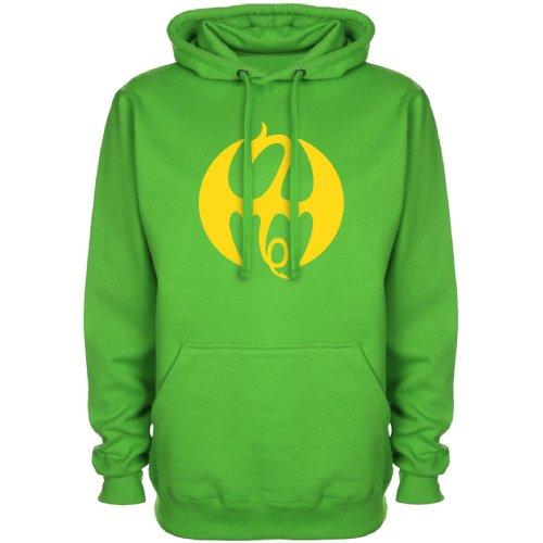 [Mens Superhero Hoodie - Fist DragonXXL] (Iron Fist Superhero Costumes)
