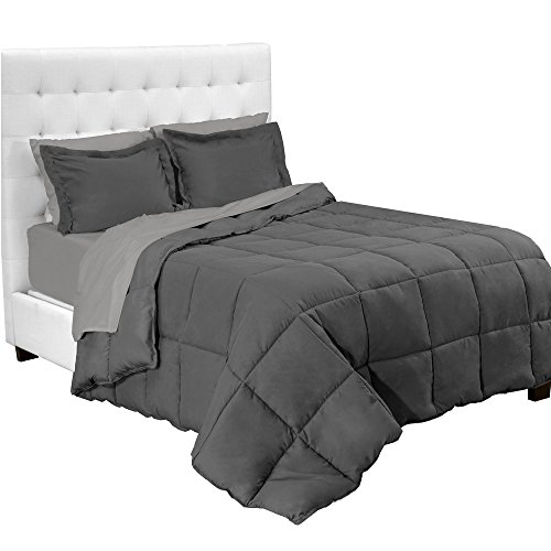 Bare Home 7-Piece Bed-In-A-Bag - California King (Comforter Set: Grey, Sheet Set: Light Grey) - Alternatives California King Sheet Set