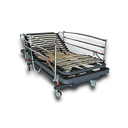 VentadeColchones - Camas Articuladas Geriátrica de Hospital con Carro Elevador Medida 105 x 190 cm con