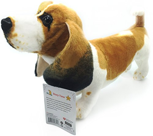 Big Plush Stuffed Dog (Bourguignon the Basset Hound | 19 Inch Large Dog Stuffed Animal Plush Dog | By Tiger Tale Toys)