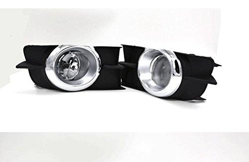 Auto-Tech Car Fog Lights for TOYOTA Wish 2009 Clear Halogen bulb Front Fog Lights Bumper Lamps (Clear Bumper Lamp Car)